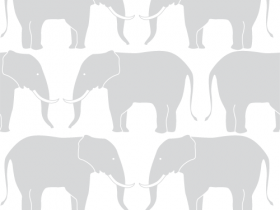 Elephants Seamless Pattern