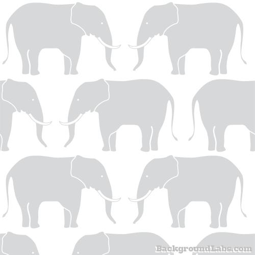 Elephants Seamless Pattern