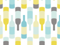Wine Bottles Seamless Pattern