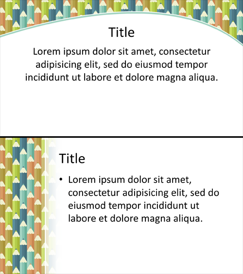 Colored Pencil PowerPoint Background