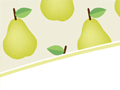 Pears and Leaves PowerPoint Background