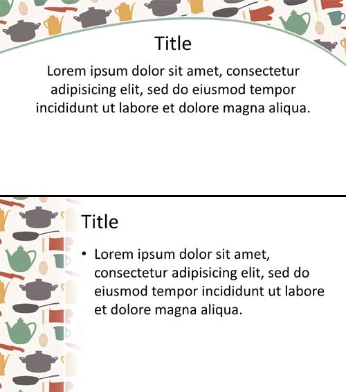 Kitchen Items PowerPoint Background