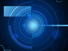 Blue Cybernetic background