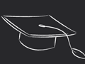 Graduation Cap Seamless Pattern
