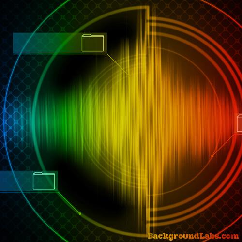 Hi Tech Colorful Background