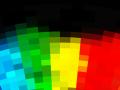 Rainbow Mosaic Background