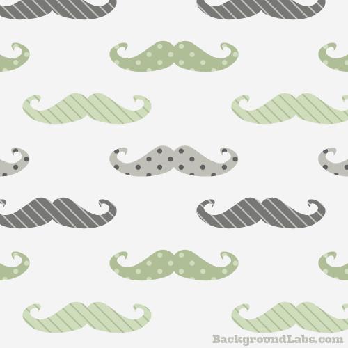 Retro Mustache Pattern