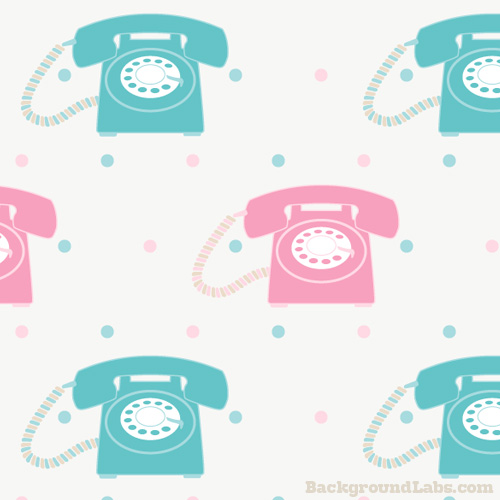 Seamless Pattern With Retro Phones