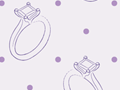 Seamless Pattern With Wedding Rings