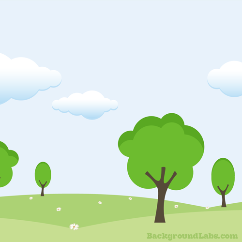 Hills and Trees Vector Background