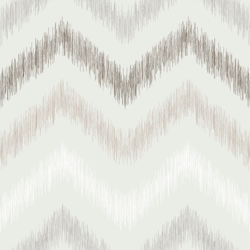 Taupe Ikat Chevron Pattern